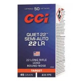 CCI Quiet 22 Semi-Auto Subsonic 45GN Lead Round Nose (50)