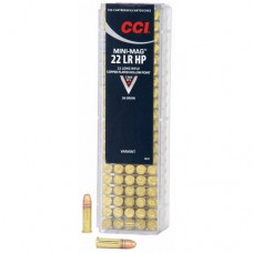 CCI Mini-Mag Ammunition 22 Long Rifle 36GN Copper-Plated Hollow Point (100)