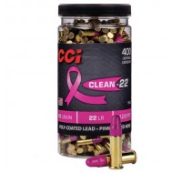 CCI High Velocity Ammunition 22 Long Rifle 40GN Pink 1235FPS (400)