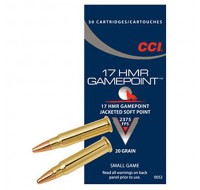 CCI Ammunition 17HMR 20GN Game Point JSP (50)