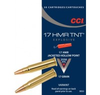 CCI Ammunition 17 Hornady Magnum Rimfire (HMR) 17GN Jacketed Hollow Point TNT (500)