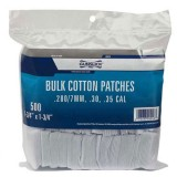 Gunslick Cotton Cleaning Patches .280 - 7MM - .30 - .35 (500)