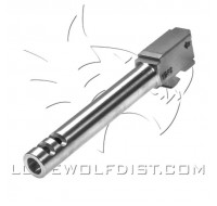 Lone Wolf Barrel M/19 9mm Extended 2 Port (124mm)