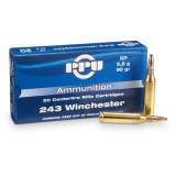 PPU Ammunition 243 Win 90gn SP (20)