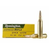 Remington 243 Winchester Pointed Soft Point 80 GN (20)