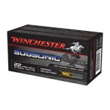 Winchester Subsonic Ammunition .22LR 40GN HP (50)